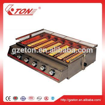 Six-burner Environmental Gas BBQ Grill / Gas BBQ Roaster