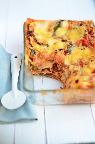 Lasagne bolognese met bechamelsaus -