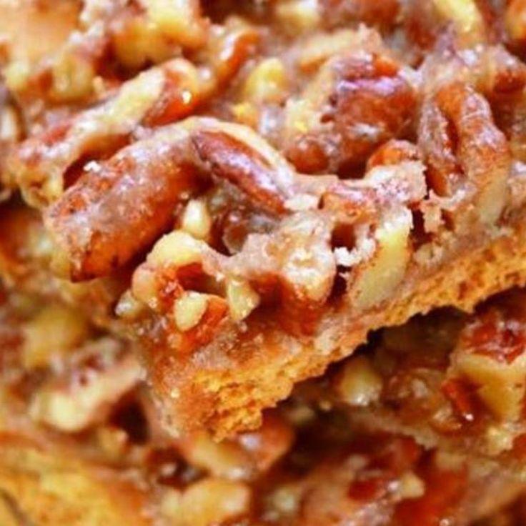 Pecan Pie Bark 9x13 with Grahams, butter, sugar, pecans, vanilla & (optional) bourbon or amaretto