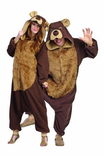 Brown Bear Hoodie, Costume, Cosplay, Adult Size, Hand-made