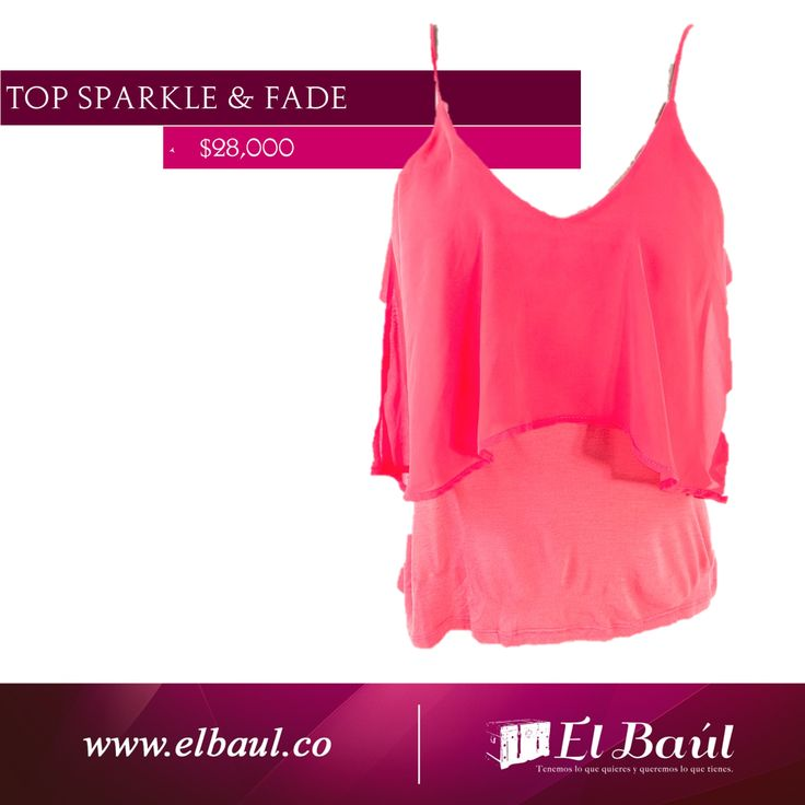 Sparkle & Fade top naranja  $28,000  http://elbaul.co/Productos/1524/Sparkle-y-Fade-top-naranja-