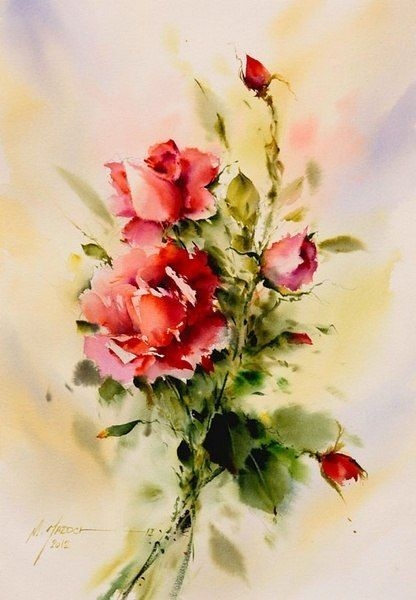 Watercolor artist Mohammad Yazdchi