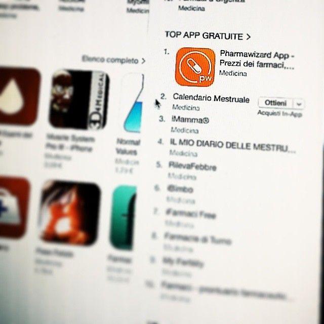 #pharmawizard in prima posizione nella top app gratuite di #app store... e a sole 48h dal lancio!