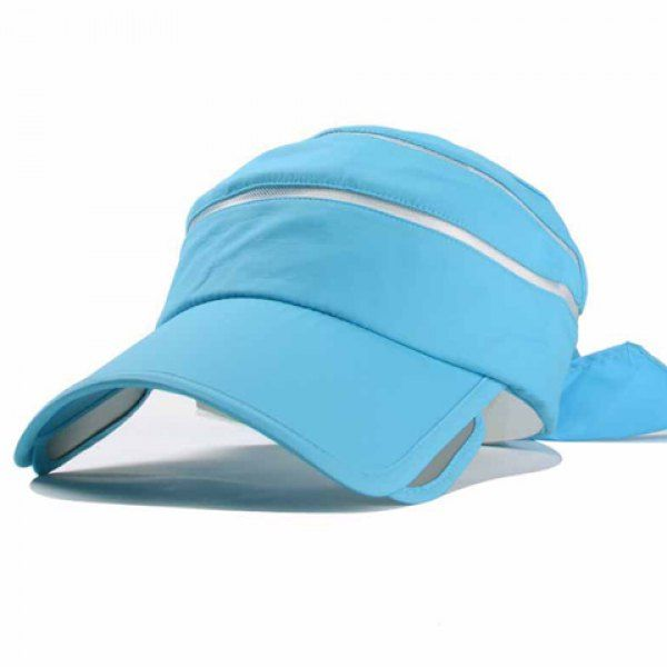 Chic Bow Lace-Up Embellished Open Top Candy Color Women's Visor #CLICK! #clothing, #shoes, #jewelry, #women, #men