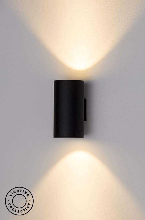 Up Down Exterior Pillar Wall Light Black Or White Wall