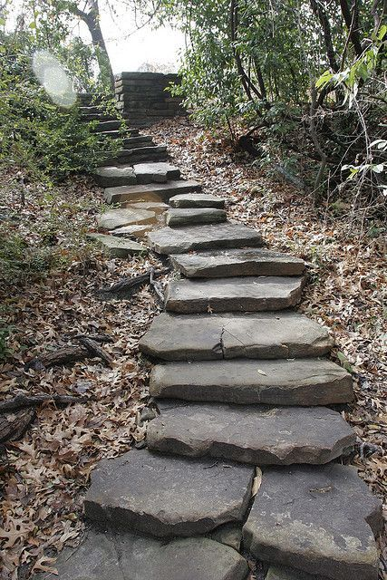Stone stairs make such a cool addition to your back yard. We love what they did at the Fort Worth Botanical Gardens, and would love to help you create something similar at Minick Materials.
