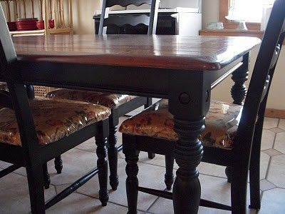 How to redo a kitchen table!