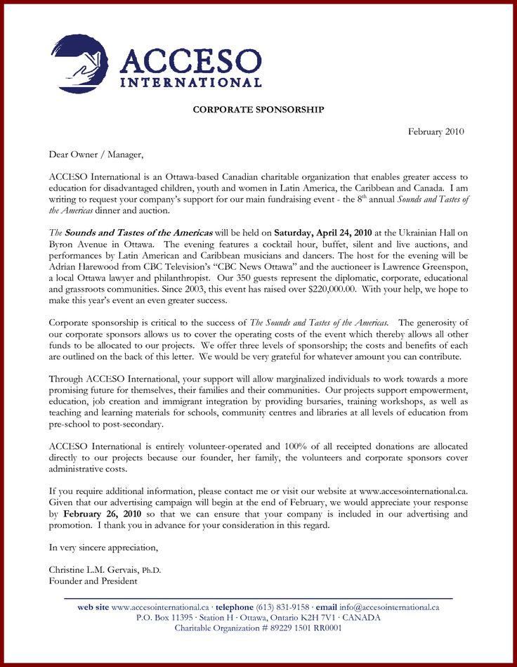 Corporate Sponsorship Letter. Official Corporate Sponsorship Agreement  Template Word Document Sponsorship Agreement Template Free Word Pdf  Documents ...