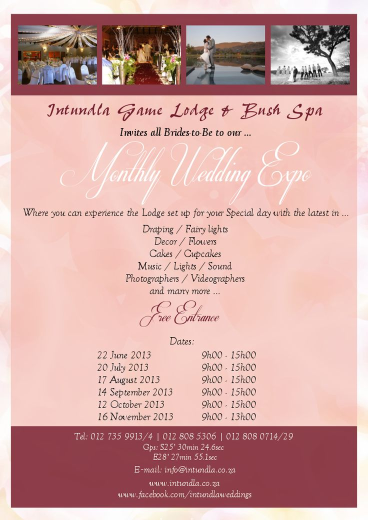 Don't miss our next #WeddingExpo!