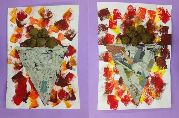 Paperina de castanyes Material: paper, paper de diari, paper de seda, pintura, cola Nivell: Infantil 2014/15