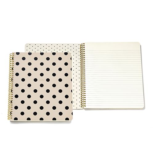 Put a little pep in your work day, study session or laundry list of to-dos with our large spiral notebooks. with 160-lined pages, it's fit to hold a day's worth of lists and doodles and will pack a pu