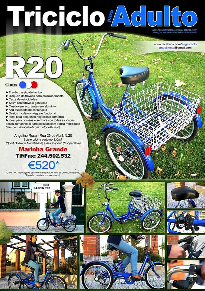 Tricycle fo Adult - Triciclo para Adulto - (€520) https://www.facebook.com/angelimoto?fref=ts