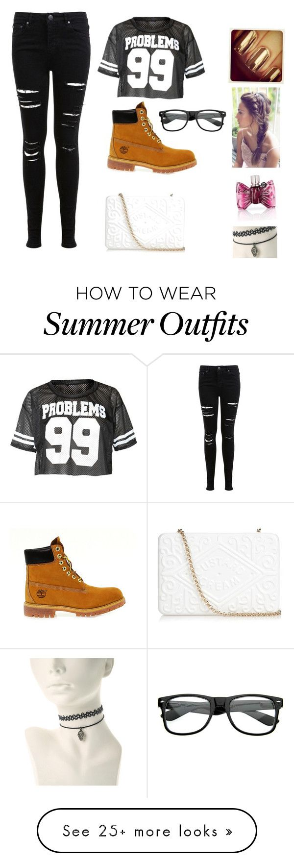 """Hipster"" by allyemma on Polyvore featuring Miss Selfridge, Timberland, Anya Hindmarch and Viktor & Rolf"