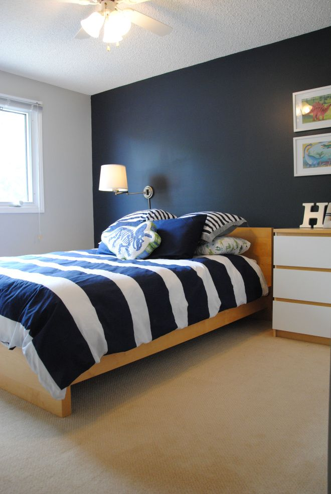 Hale Navy and Stonington Gray Boy room paint Boys
