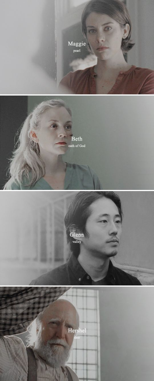 Greene/Rhee Family + Name Meanings #twd