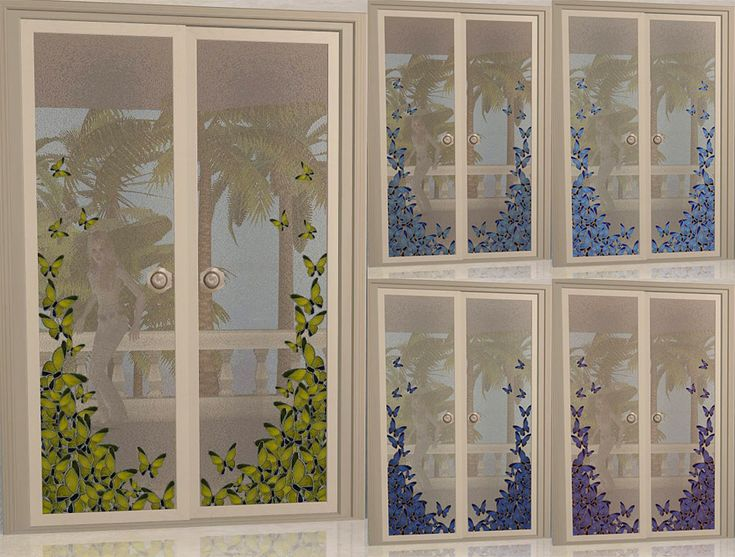 """Mod The Sims - Project """"Maiden's bedroom """" . Part 9. Doors. Set """"Royal caprice""""(Maxis Double Doors recolors)."""