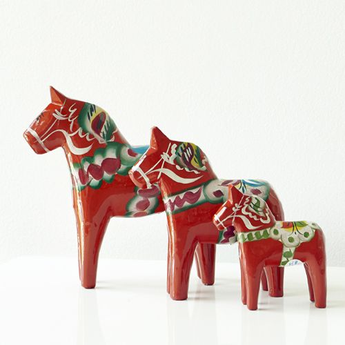 Single Wooden Dala Horses | The Swedish Wooden Horse Company