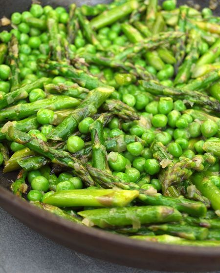 Sauteed Asparagus and Peas! Pretty sure this could be adapted with less butter/oils to make a healthier alternative! Gorgeous!