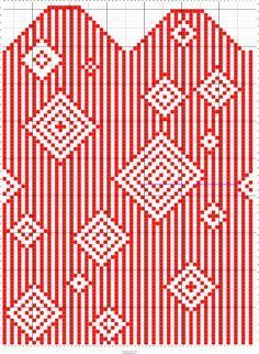 Stripes mittens pattern