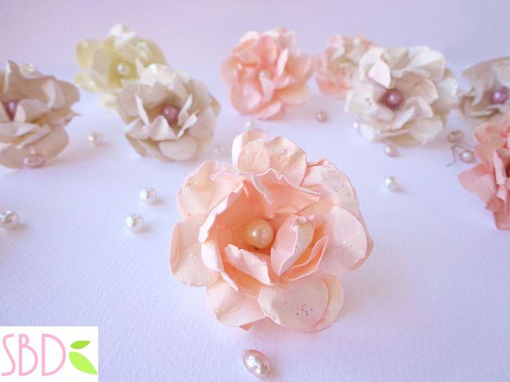 Fiori di carta shabby facili e veloci - DIY Paper shabby flowers quick&easy by SweetBioDesign