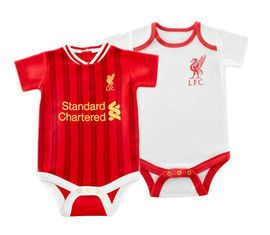 This Liverpool Baby Bodysuit 2 Pack comes in sizes from newborn right up to 12-18 months, baby can have one for home and one for away.  Made by Brecrest for Liverpool FC, these are an official product available to buy now at Soccer box, see our full range for baby Liverpool supporters at http://www.soccerbox.com/liverpool-football-shirts/baby-clothes/
