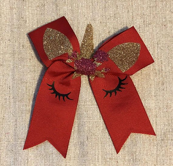 """Unicorn hair bow made out of grosgrain ribbon. 5""""."""