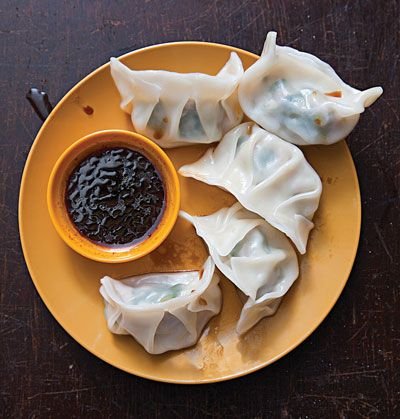 These classic Taiwanese boiled dumplings are filled with a mix of pork, finely chopped scallions, and grated ginger.