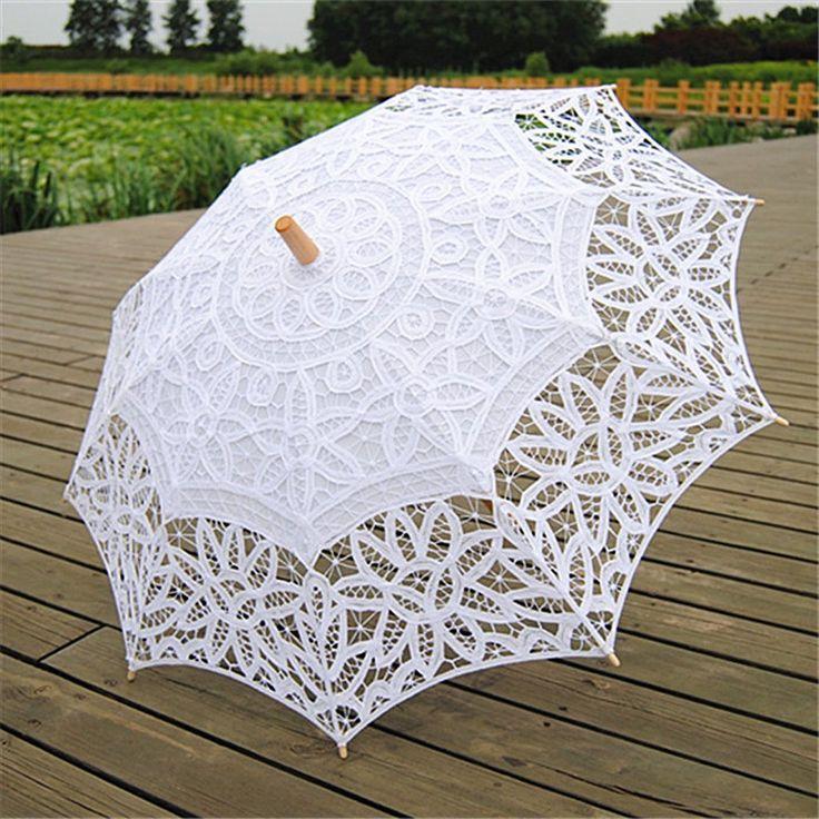 Parapluie en Dentelle pour Mariée Décoraion de Mariage Accessoire de Photographie Blanc: Amazon.fr: Vêtements et accessoires