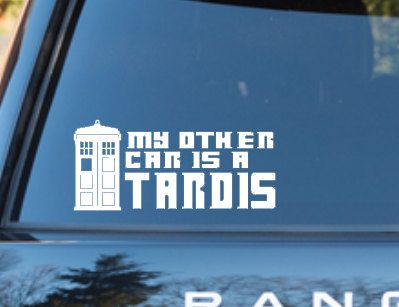 Hey, I found this really awesome Etsy listing at https://www.etsy.com/listing/191350122/doctor-who-inspired-my-other-car-is-a