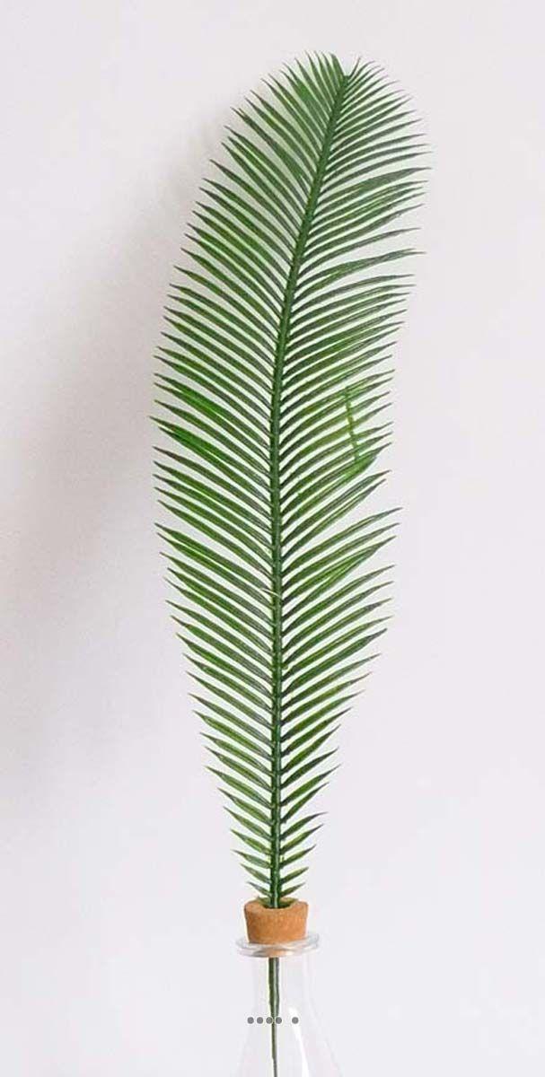 Feuille de palmier Cycas H 60 cm Plastique pour exterieur D 12 cm superbe du site Artificielles.com.