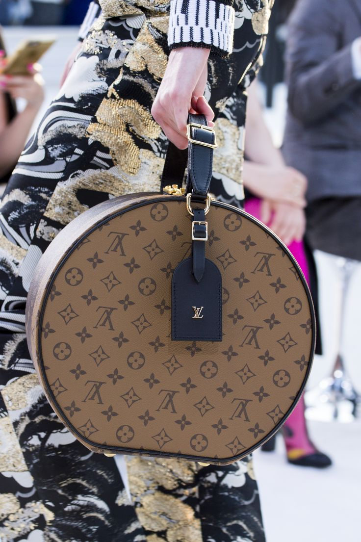 A closer look at a new handbag from the Louis Vuitton Cruise 2018 Fashion Show by Nicolas Ghesquière, presented at the Miho Museum near Kyoto, Japan