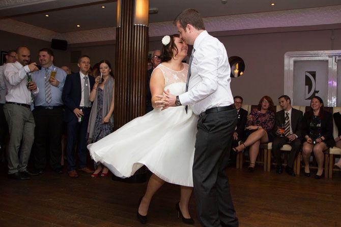 First Dance at the Gatsby Berkhamsted Hertfordshire Wedding reception
