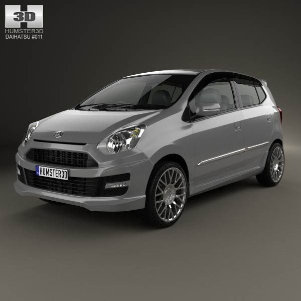 Daihatsu Astra Ayla Sporty 2013 3d model from humster3d.com. Price: $75