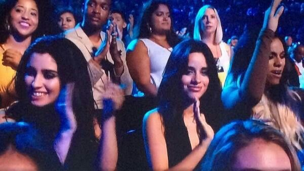 Camren sitting next to eachother at VMA's