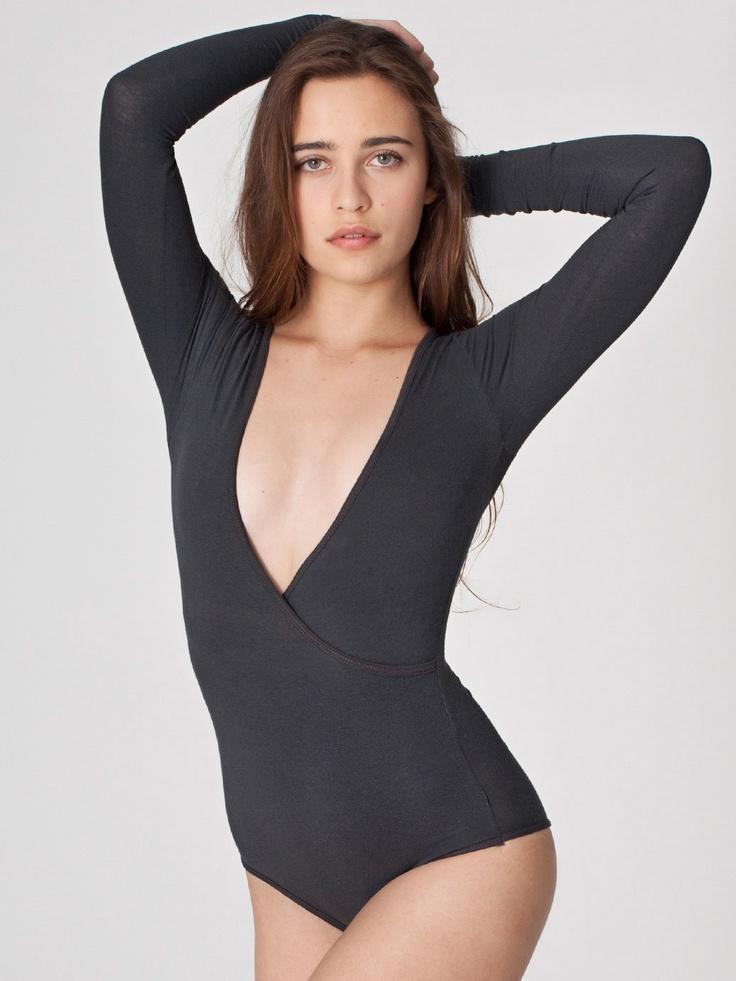 Cotton Spandex Jersey Cross-V Bodysuit | Long Sleeves | Women's ...: pinterest.com/pin/370421138071374556