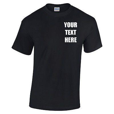 Personalised Company Work Logo Custom Printed Shirts Uniform Workwear T Shirt
