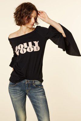"T-shirt ""hollywood"" Aniye By TAGLIE: S - M - L - XL (scrivi la tua taglia nelle note più avanti) #tee #tshirt #aniyeby #bullacarpaneto #hollywood #black #spring #summer #collection #moda"