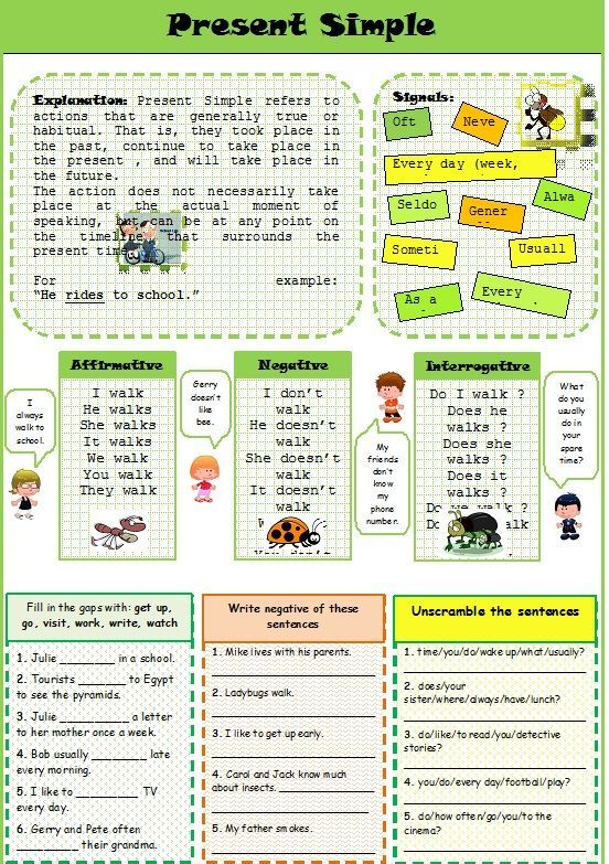 English teaching worksheets Simple present ESL Printables