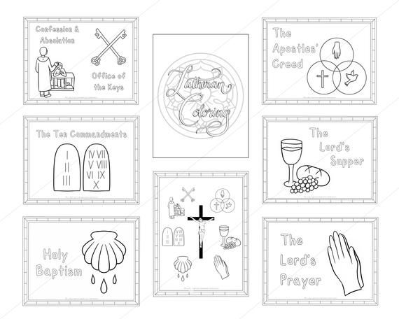 Lutheran Coloring Sheets Digital Download Lutheran Gifts