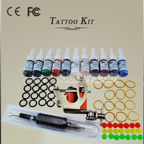 Professional Tattoo Kit with 1 Tattoo Machine and Inks for Fans : Tidebuy.com