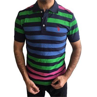 Erkek polo yaka kısa kollu çizgili tişört modellerini en ucuz fiyatlarıyla kapıda ödeme ve taksit ile Outlet Çarşım'dan satın al.