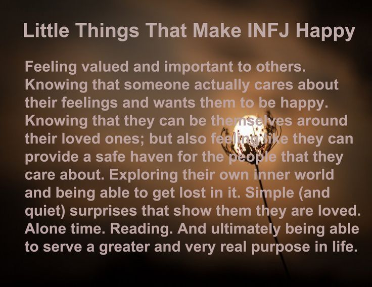Little Things That Make INFJ Happy: all true!