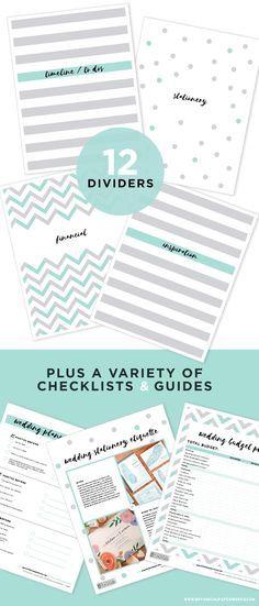 {free printables} Wedding Planning Binder Download With NEW Bonus Pages