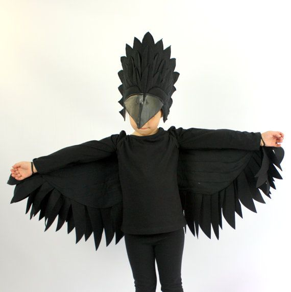Raven Set _ Childrens Costume Halloween by sparrowandbcostumery