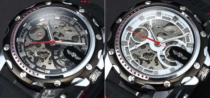 $25 for a Skeleton Military Automatic Men's Silicone Watch - Tax Included ($65 Value)