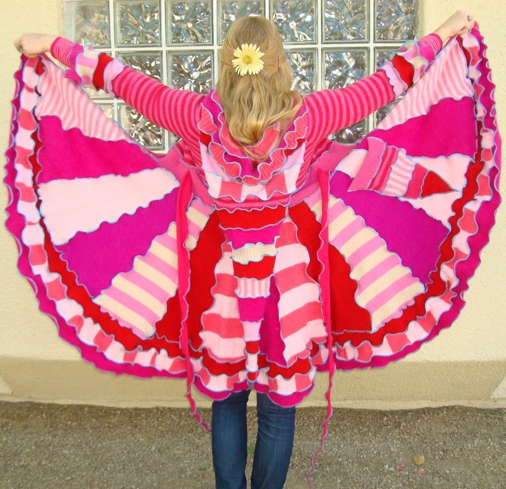 """""""Candyland"""" coat by Katwise.Katwise Inspiration, Katwi Inspiration, Serger Sewing, Sweaters Coats, Candyland, Serger Sweaters"""