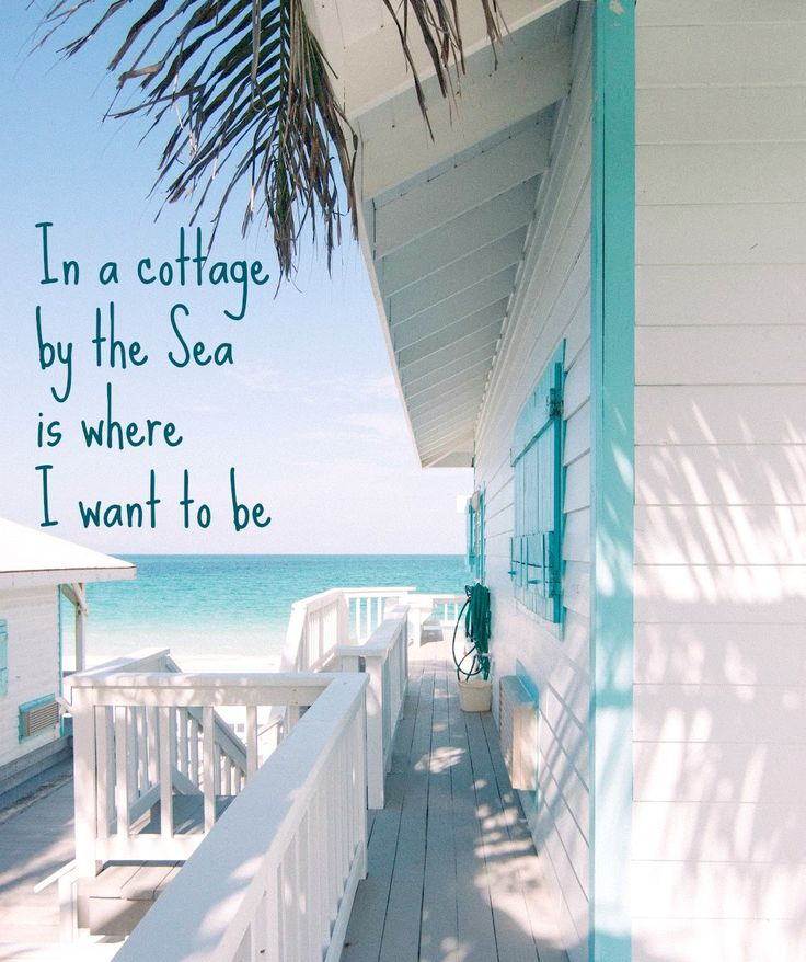 In a cottage by the sea is where I want to be... until then I collect beach cottages here: http://www.pinterest.com/beachblisslivin/beach-cottages/ where you find this Bahamian gem.