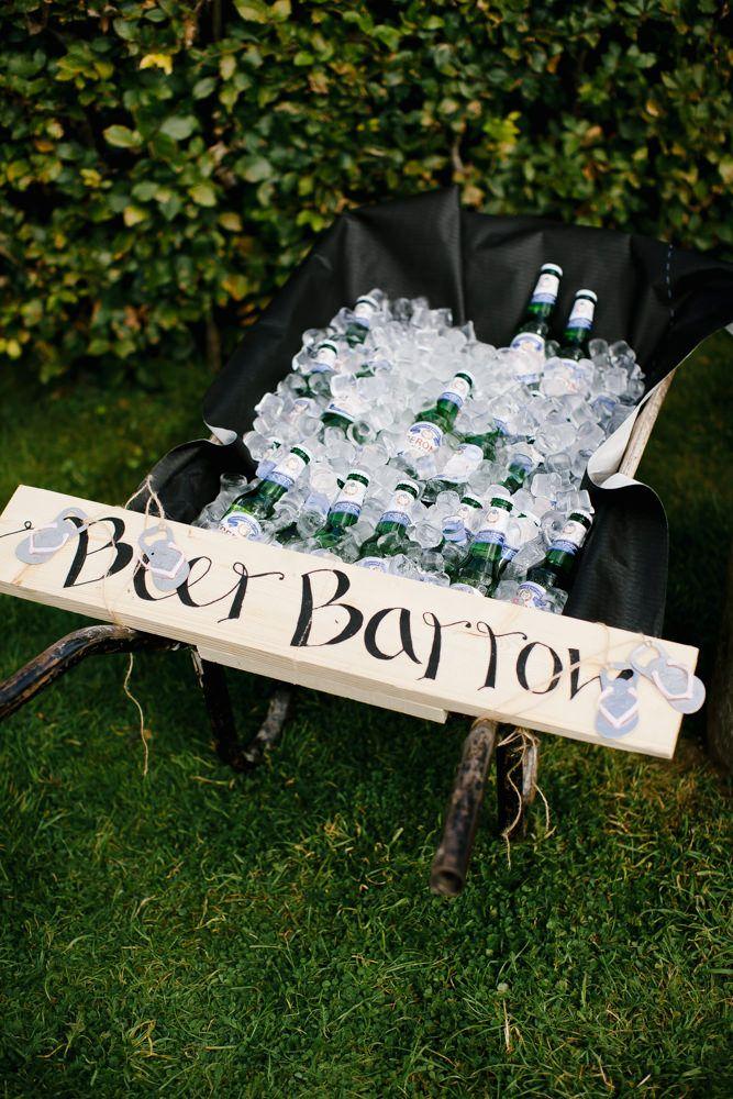 Beer Barrow DIY Country Pub Wedding