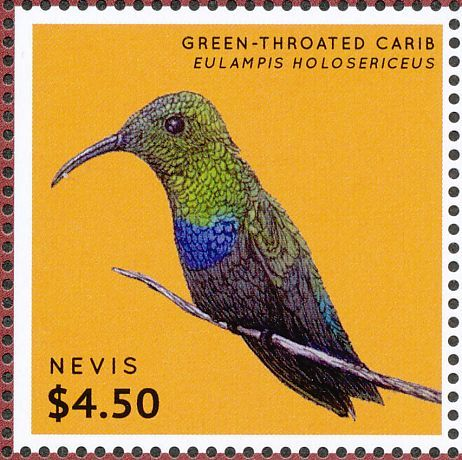Green-throated Carib stamps - mainly images - gallery format