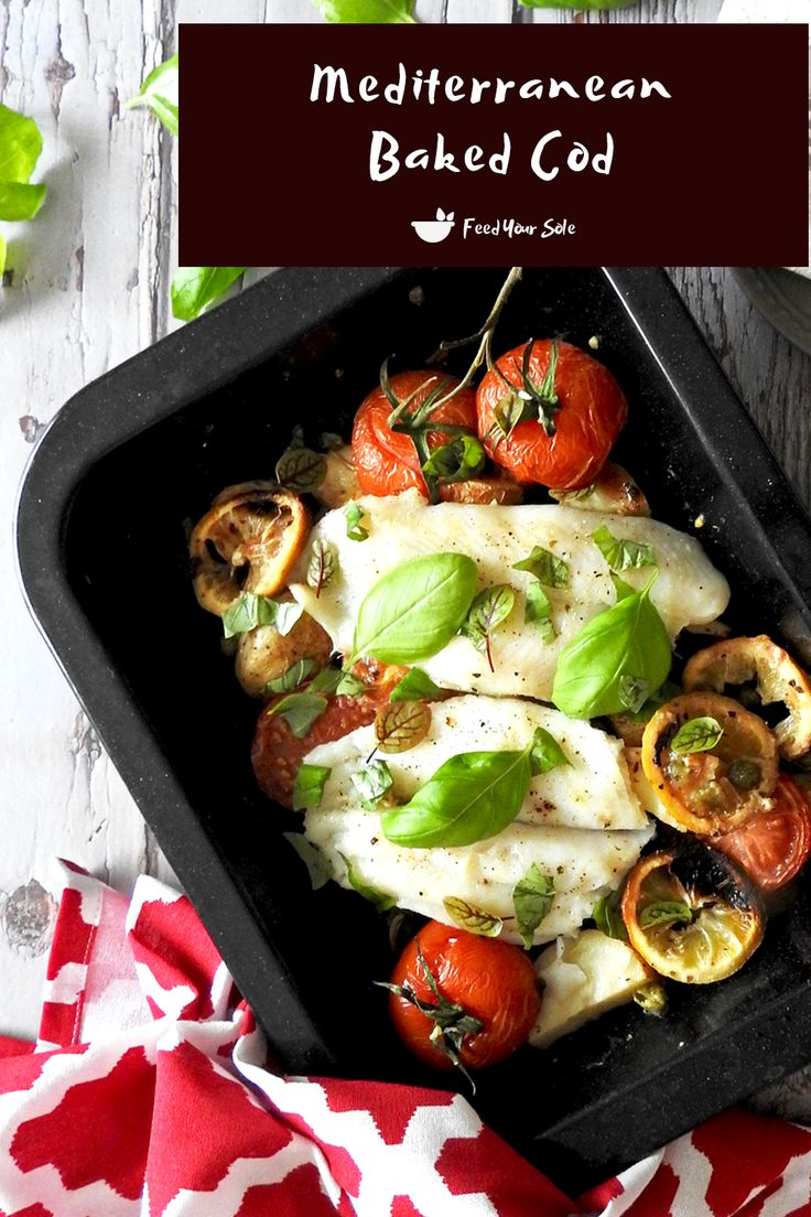 Jun 24, 2020 – A fresh, tasty and simple Mediterranean baked cod dish. Roasted in the oven with a medley of tasty vegeta…